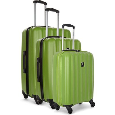 Revelation by Antler Jude 3-Piece Hard Suitcase Set - Lime
