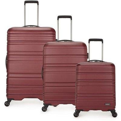Antler Saturn 3-Piece Suitcase Set - Burgundy