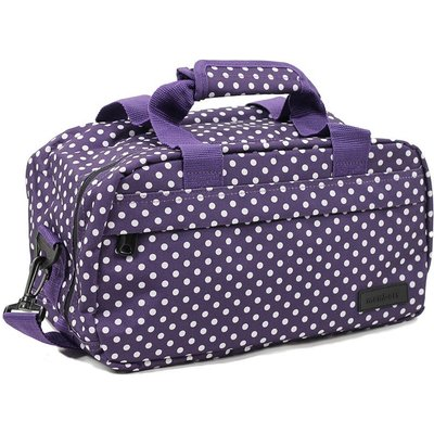 Members by Rock Luggage Essential Under-Seat Hand Luggage Bag - Purple Polka Dots