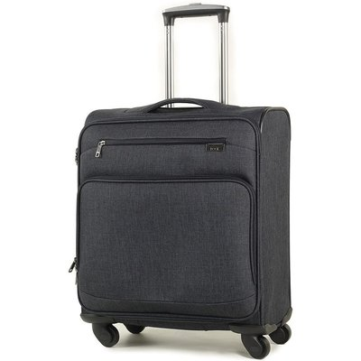 Rock Madison Cabin Lightweight Expandable 4-Wheel Suitcase - Black