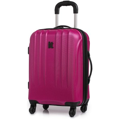 IT Luggage IT 4-Wheel Ultra-Strong Hard Shell Cabin Suitcase - Raspberry