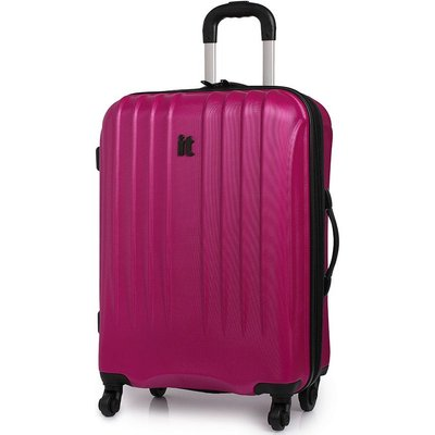 IT Luggage IT 4-Wheel Ultra-Strong Hard Shell Medium Suitcase - Raspberry