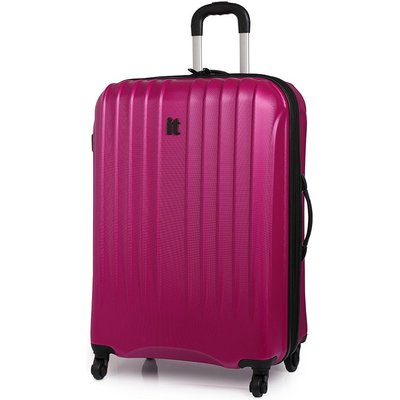 IT Luggage IT 4-Wheel Ultra-Strong Hard Shell Large Suitcase - Raspberry