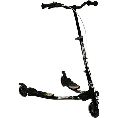 Charles Bentley Mini 3 Wheel Speed Scooter - Black