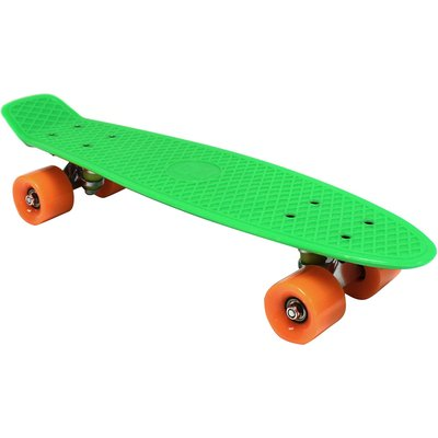 "Charles Bentley 22"" Retro Cruiser Mini Plastic Skateboard Green"