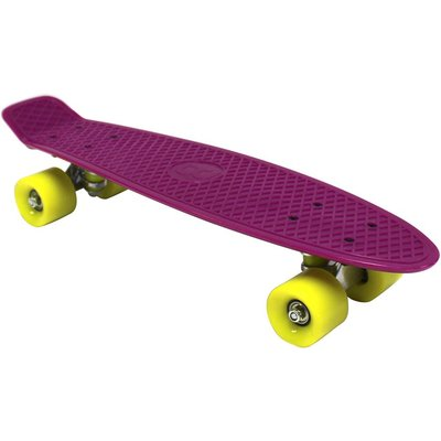 "Charles Bentley 22"" Retro Cruiser Mini Plastic Skateboard Purple"
