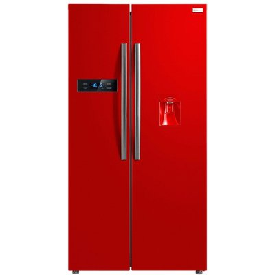 Russell Hobbs RH90FF176R-WD American Style Fridge Freezer with Water Dispenser - Red