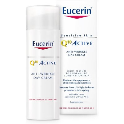 Eucerin Q10 Active Anti-Wrinkle Day Cream for Normal to Combination Skin SPF 15 50ml