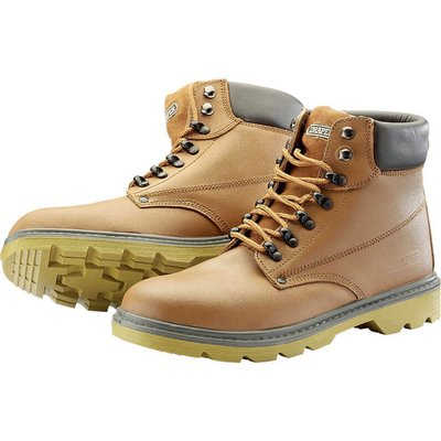 Draper Mens Safety Boots Tan Size 9