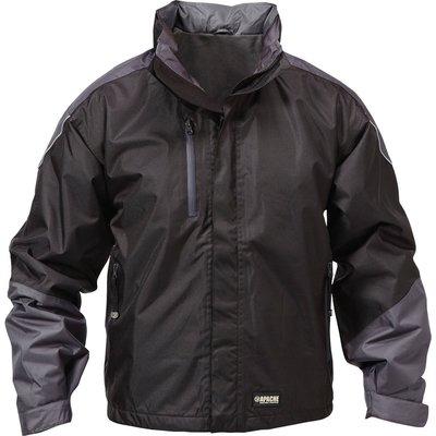 Apache Mens All Seasons Fleece Lined Jacket Black / Grey XL