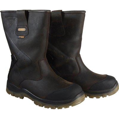DeWalt Mens Tungsten S3 Rigger Safety Boots Brown Size 8