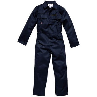 Dickies Mens Proban Flame Retardant Overalls Navy Blue 44 31.5