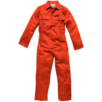 Dickies Mens Proban Flame Retardant Overalls Orange 40 31.5