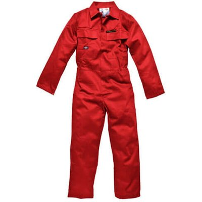 Dickies Mens Proban Flame Retardant Overalls Red 36 31.5