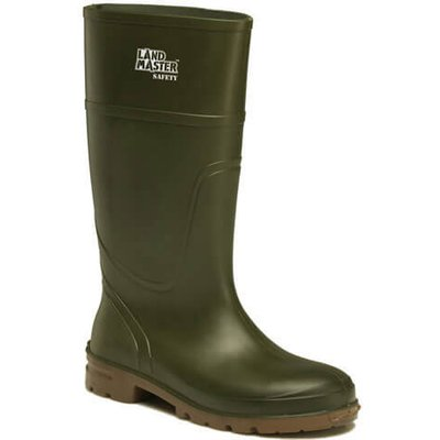 Dickies Mens Landmaster Safety Wellington Boots Green Size 11