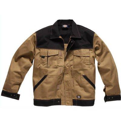 Dickies Mens Industry 300 Two Tone Jacket Khaki / Black M