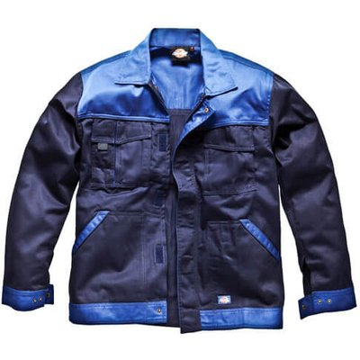 Dickies Mens Industry 300 Two Tone Jacket Navy / Royal Blue XL