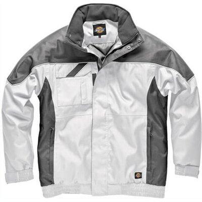 Dickies Mens Industry 300 Winter Jacket White / Grey XL