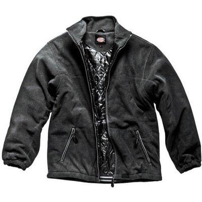 Dickies Mens Padded Fleece Jacket Black 2XL