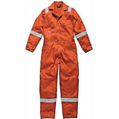 Dickies Mens Lightweight Cotton Overalls Orange 4XL