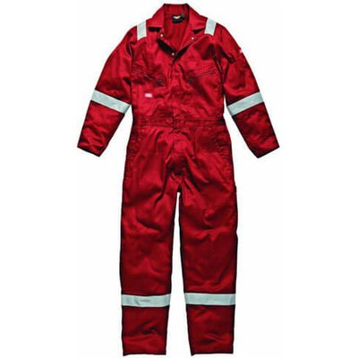 Dickies Mens Lightweight Cotton Overalls Red 2XL