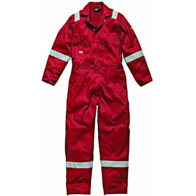 Dickies Mens Cotton Overalls Red L