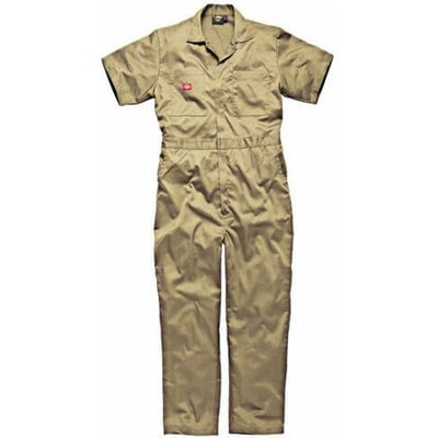 Dickies Mens Lightweight Cotton Short Sleeve Overalls Khaki L