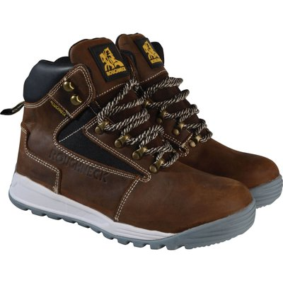 Roughneck Mens Sabre Safety Boots Brown Size 6