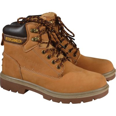 Roughneck Mens Tornado Safety Boots Wheat Size 9