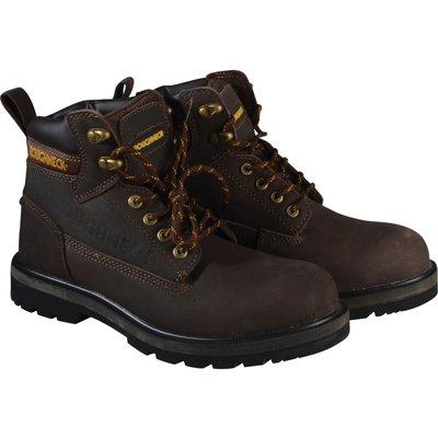 Roughneck Mens Tornado Safety Boots Dark Brown Size 11