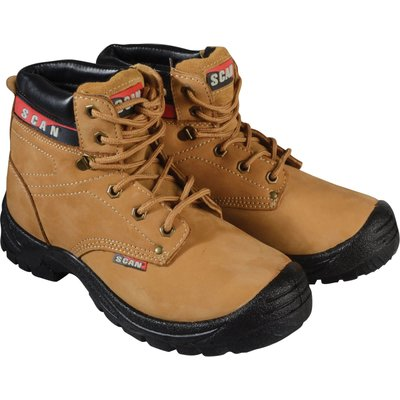 Scan Mens Cougar Safety Boots Honey Size 12