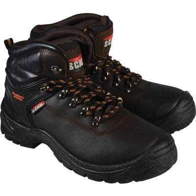 Scan Mens Lynx Safety Boots Brown Size 12