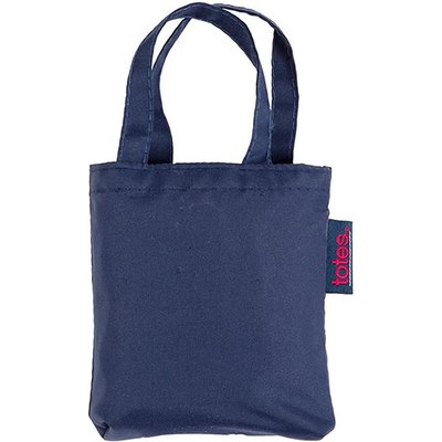 totes Plain Navy Print Shopping Bag