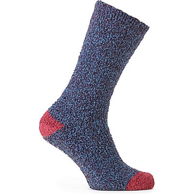 totes Mens Supersoft Socks (Twin Pack)  Navy/Berry One Size