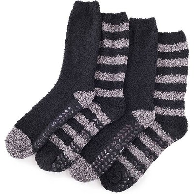 totes Mens Supersoft Socks (Twin Pack)  Black/Grey One Size
