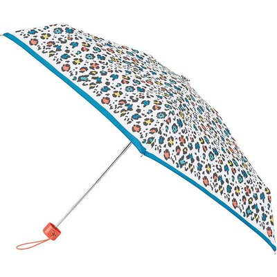 totes Mini Round Panther with Border Print Umbrella (5 Section)