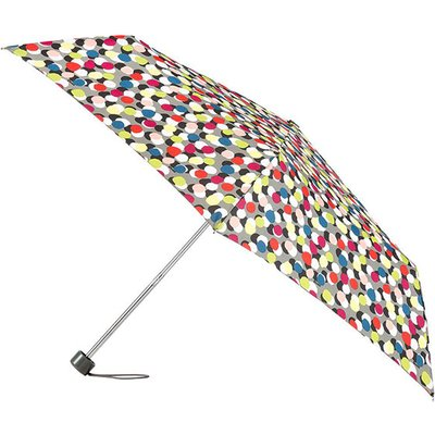 totes Supermini Multi Dots Scarlet Umbrella (3 Section)