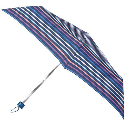 totes Supermini autumn pastel Stripe Print Umbrella (3 Section)