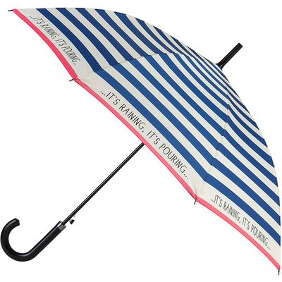 EXCLUSIVE totes Slim Auto Walker Umbrella Nautical