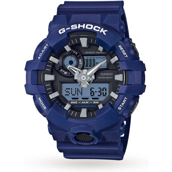 1. Mens Casio G-Shock Alarm Chronograph Watch GA-700-2AER: £120, Goldsmiths