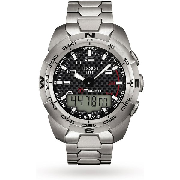 1. Tissot Men's T-Touch Expert Titanium Alarm Chronograph Watch: £755, Goldsmiths