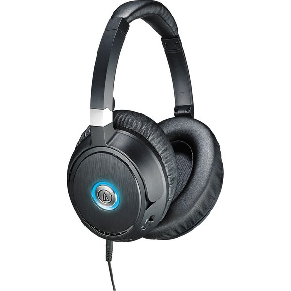 62. AUDIO TECHNICA QuietPoint ATH-ANC70 Noise-Cancelling Headphones - Black, Black: £129.96, Currys