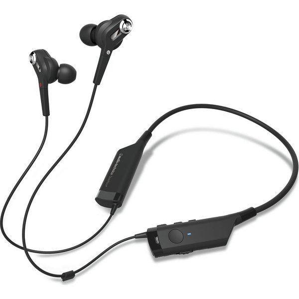 60. AUDIO TECHNICA  ATH-ANC40BT Wireless Bluetooth Noise-Cancelling Headphones - Black, Black: £149, Currys
