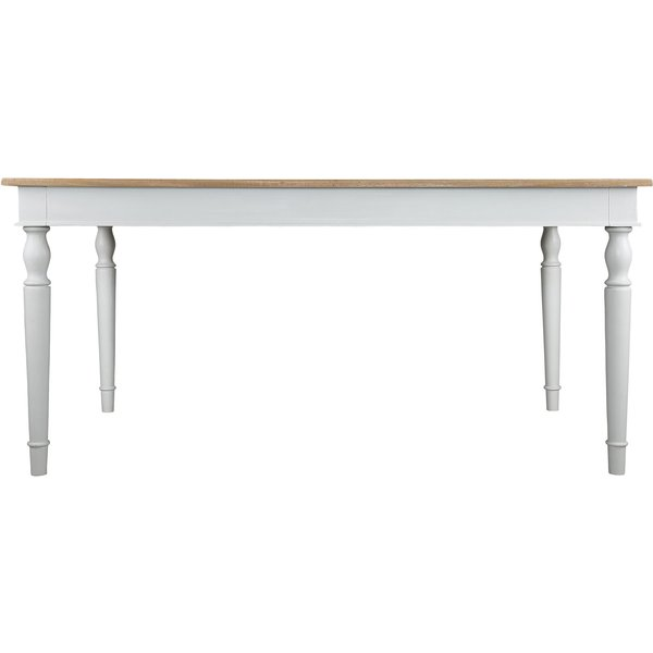 18. Junipa Anise rectangle fixed top dining table, Cream: £600, House of Fraser