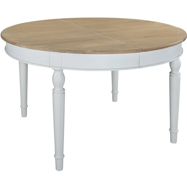 17. Junipa Anise round extending dining table, Cream: £600, House of Fraser