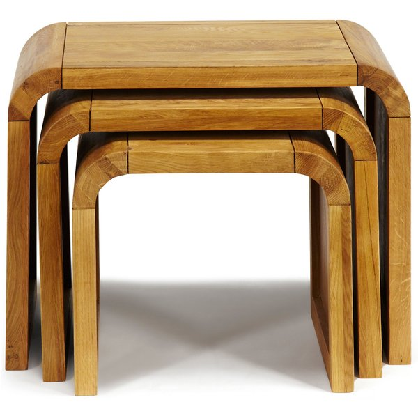 1. Linea Oak Lounge Nest of End Tables, White: £349, House of Fraser