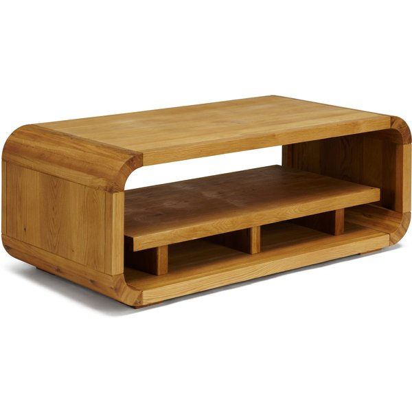 20. Linea Oak Lounge Coffee Table with Shelf, White: £499, House of Fraser
