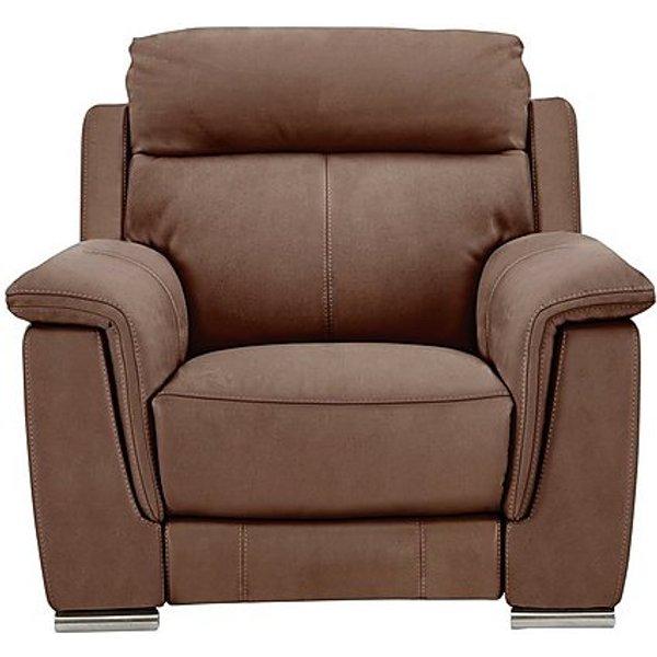 41. Glider Fabric Recliner Armchair, Brown: £865, Furniture Village