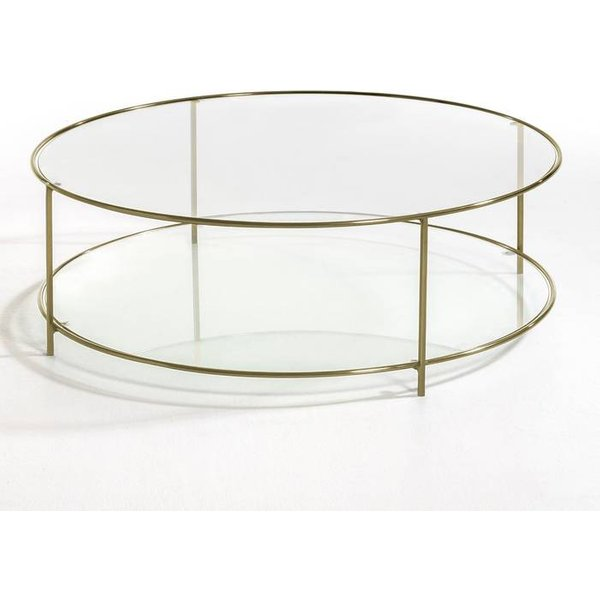1. Sybil Round Tempered Glass Coffee Table, Transparent: £359, La Redoute