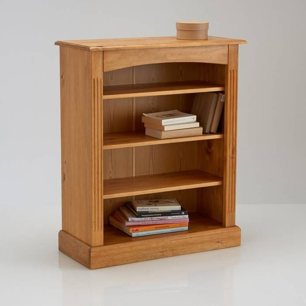 21. Authentic Style Solid Pine Bookcase, Polished pine: £215, La Redoute